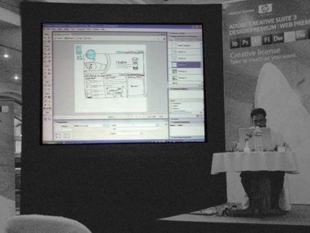 Adobe Creative Suite 3 event, Bangalore