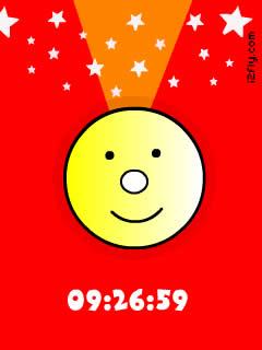 cute smiley clock