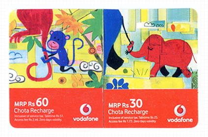 vodaphone illustrative recharge voucher