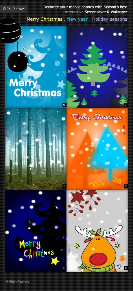 i2fly released refreshing season's best Flash lite mobile wallpaper and screensavers.