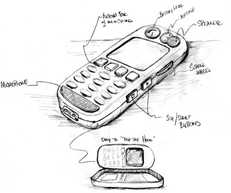 conceptual phone for emerging market